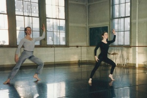 Carol Mezzacappa & Craig Gabrian performing Study in Contrast at a lecture demonstration at Hunter College 1994