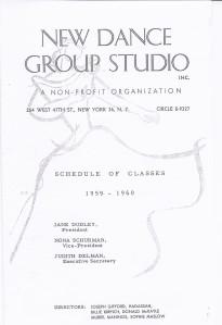 New Dance Group Class Schedule