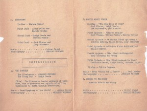 "Portion of program showing ""Mostly About Women"""