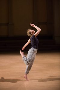 "Julia dancing in ""Amid"" by Suzanne Beahrs Dance. Photo by Christopher Duggan."