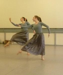 Phoebe in rehearsal for Brahm's Waltzes in 2011. Photo courtesy of Oberon's Grove.
