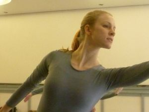 "Julia in rehearsal for ""Brahm's Waltzes"" in 2011. Photo courtesy of Oberon's Grove."