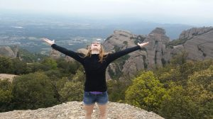 Me on the top of Mont Serat in Barcelona, Spain.