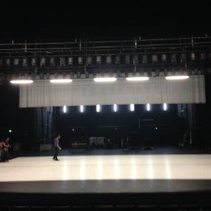 "The stage at Le Quai post ""Horizon"" performance."